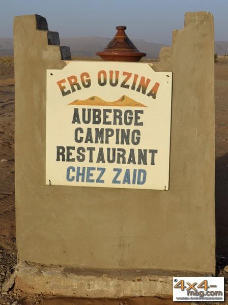 Chez Zaïd.  Auberge Restaurant Camping. Erg Ouzina