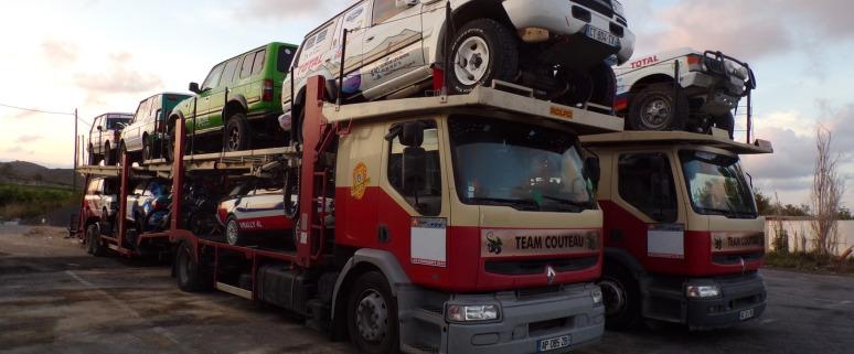 Transport des véhicules de rallye, de raid ou simplement de ballade vers le Maroc et retour en Europe