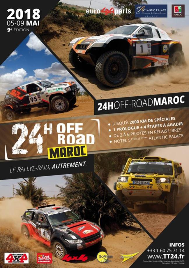 """24 HEURES TT DU MAROC 2018  DU 05 AU 10 MAI 2018 9° édition spéciale """"Agadir"""""""