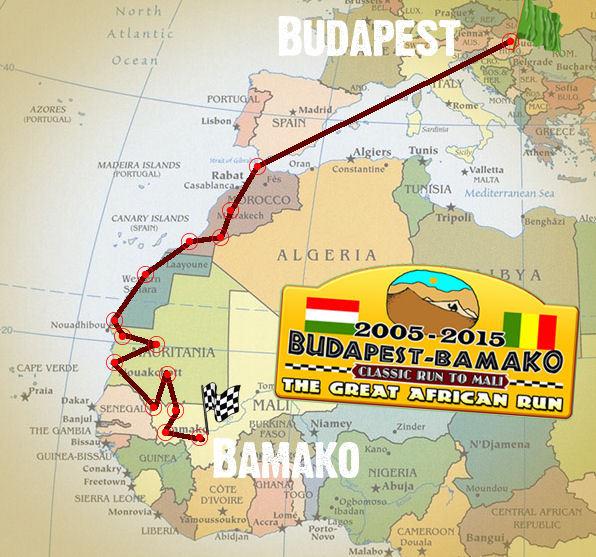 Rally Raid  Budapest-Bamako 2015