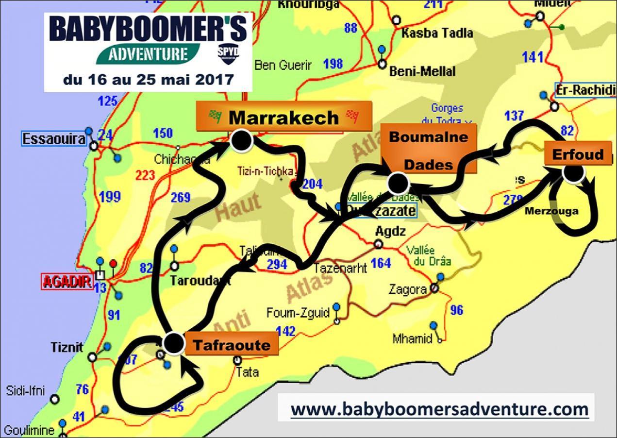 Babyboomer's Adventure Maroc 2017