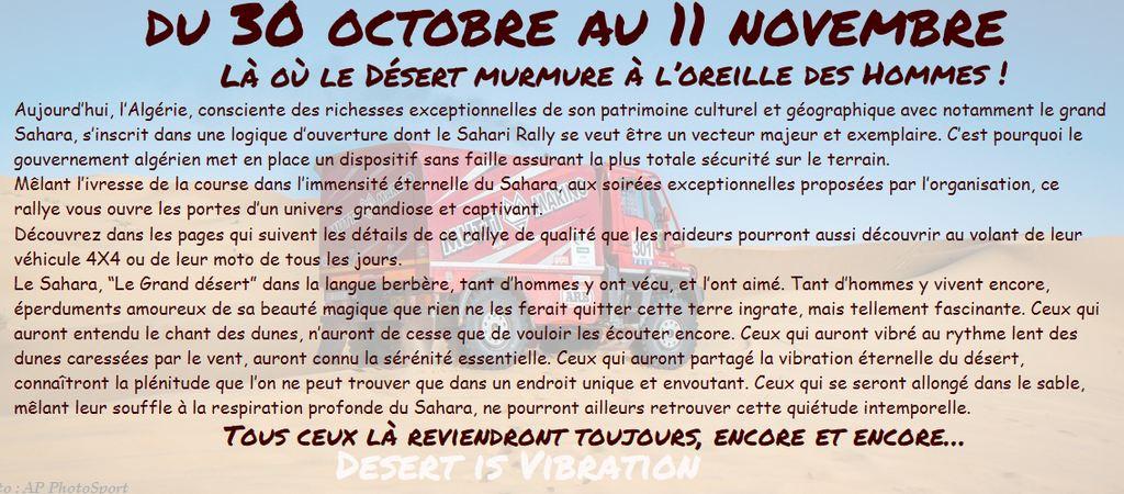 Sahari Rallye: Le Rallye Raid d'Algérie