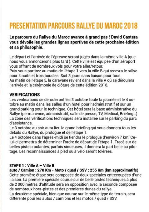 Rallye du Maroc 2018