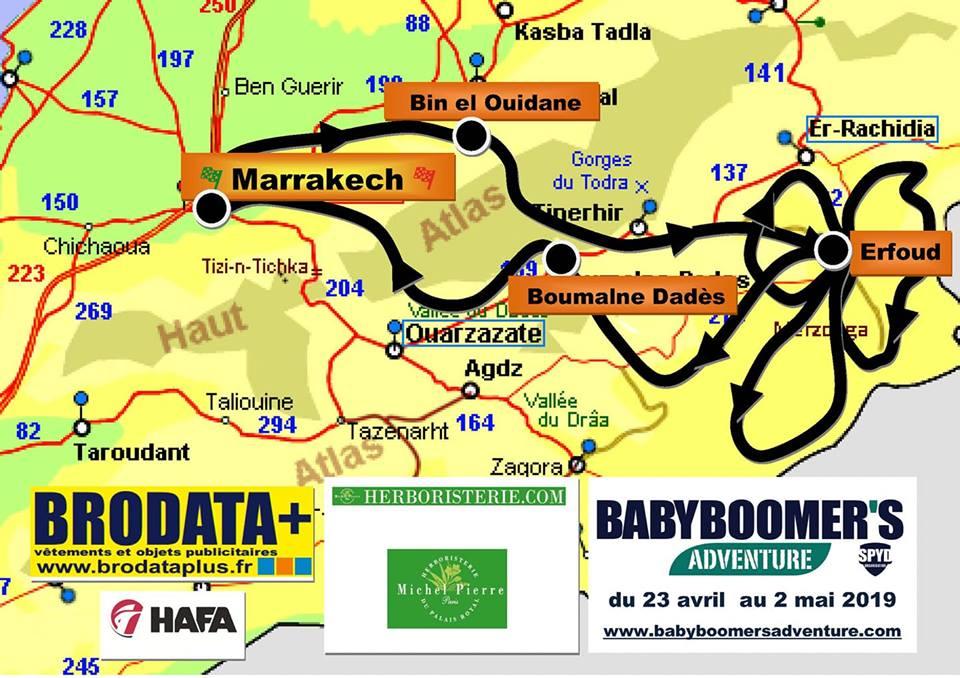 11ÈME BABYBOOMER'S ADVENTURE MAROC DU 23 AVRIL AU 2 MAI 2019. ERFOUD