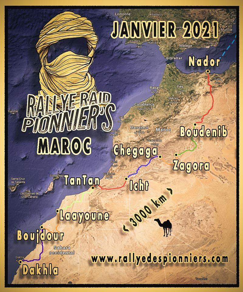 Rallye des Pionniers Paris-Nador-Dakhla 2021