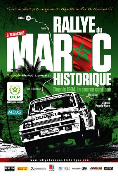 7ème édition du Rallye du Maroc Historique Du 09 au 14 mai 2016